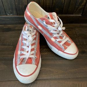 Red and Blue Converse Size 9